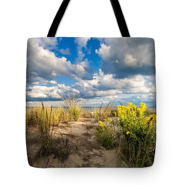 Tote Bag featuring the photograph Late Summer Dunes Ocean City by Jim Moore