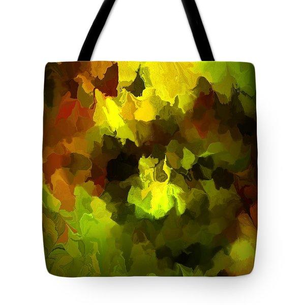 Late Summer Nature Abstract Tote Bag by David Lane