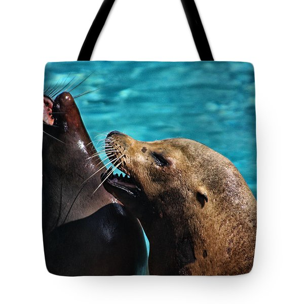 Laughing Seals Tote Bag by Karol Livote