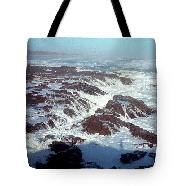 Tote Bag featuring the photograph Lava Rock 90 Mile Beach by Mark Dodd