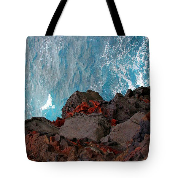 Lava Rocks And Ocean Water Tote Bag by Jennifer Bright
