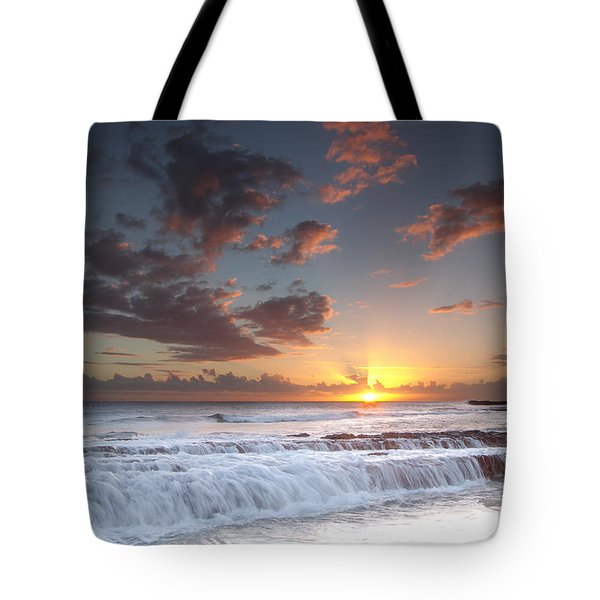 Lava Shelf Waterfall Tote Bag by Roger Mullenhour