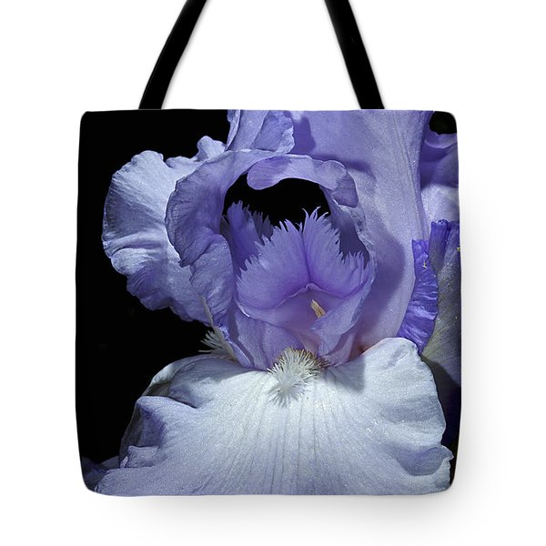 Lavender Blue Iris Tote Bag by Phyllis Denton