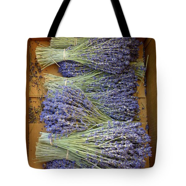 Tote Bag featuring the photograph Lavender Bundles by Lainie Wrightson