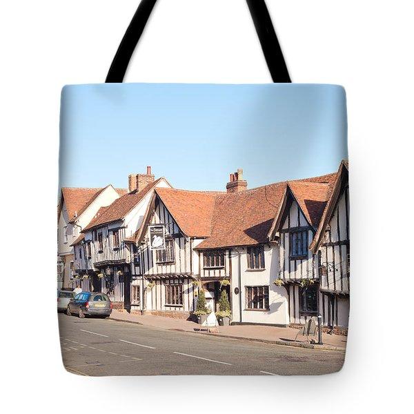 Lavenham High Street Tote Bag by Tom Gowanlock