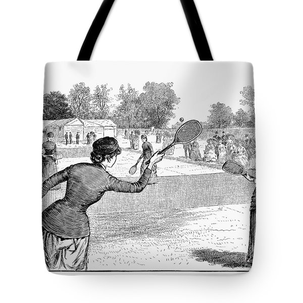 Lawn Tennis, 1883 Tote Bag by Granger