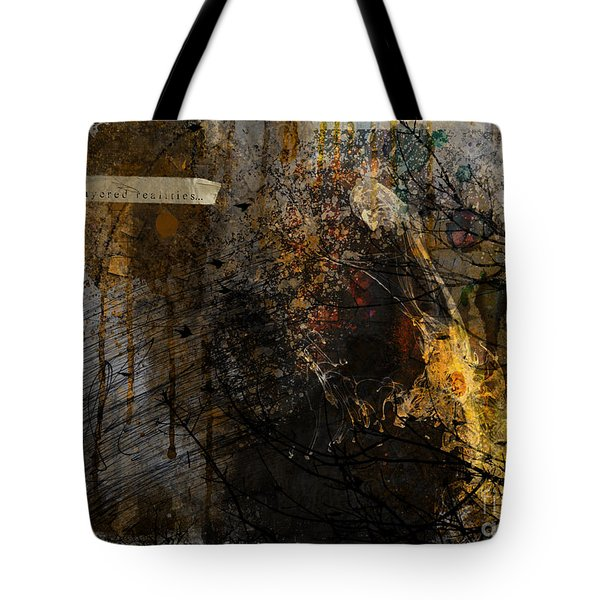 Layered Realities Abstract Composition Painting Print Tote Bag