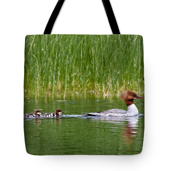 Tote Bag featuring the photograph Lazy Swim by Brent L Ander
