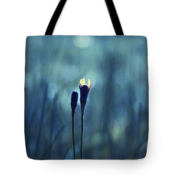 Le Centre De L Attention - Blue S0203d Tote Bag by Variance Collections