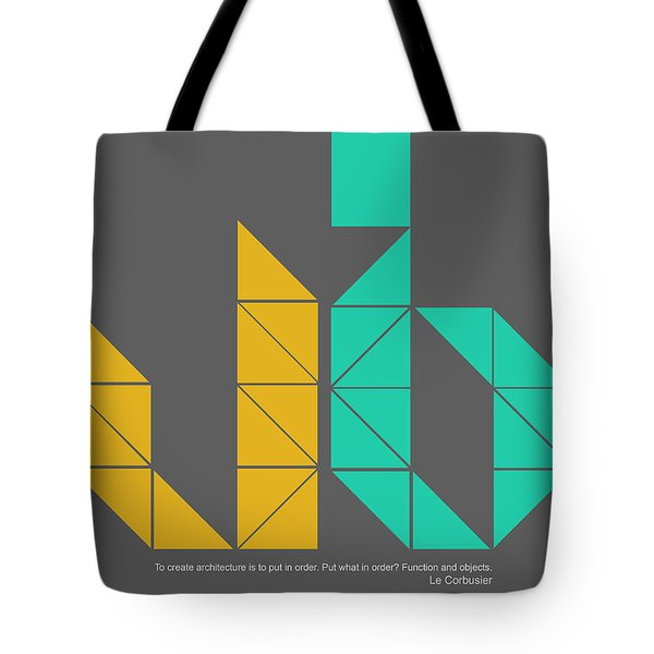 Le Corbusier Quote Poster Tote Bag