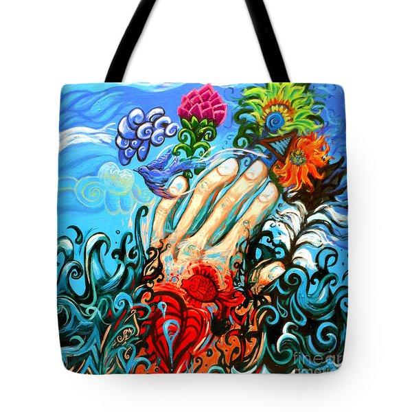 Le Destin Du Humain Grande Tote Bag by Genevieve Esson