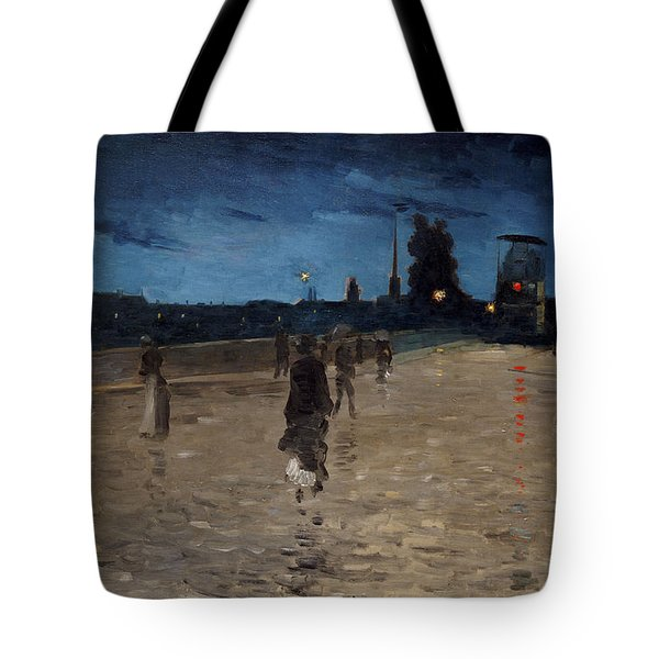 Le Pont De Pierre Tote Bag by Charles Angrand