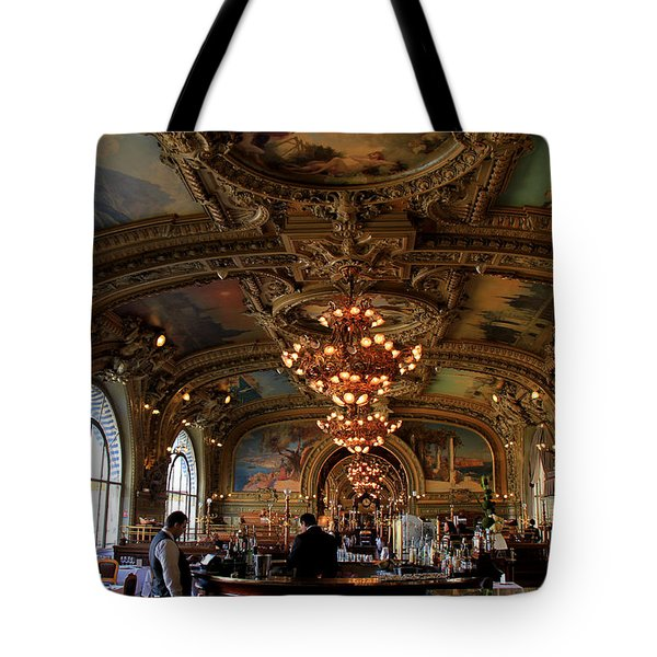Le Train Bleu Tote Bag by Andrew Fare