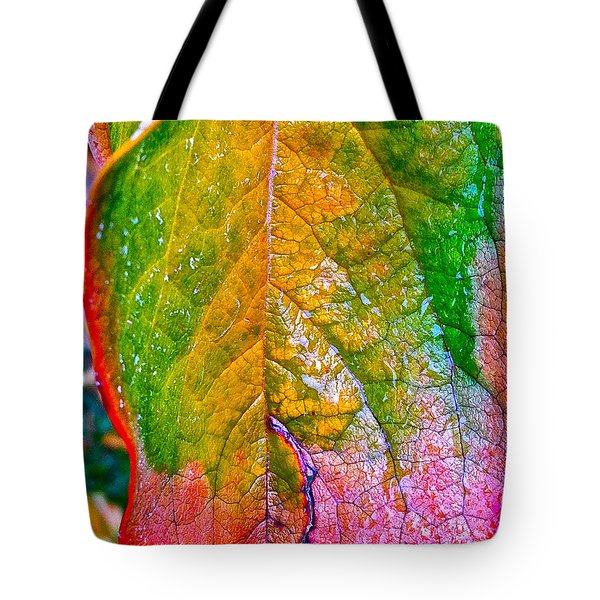 Tote Bag featuring the photograph Leaf 2 by Bill Owen
