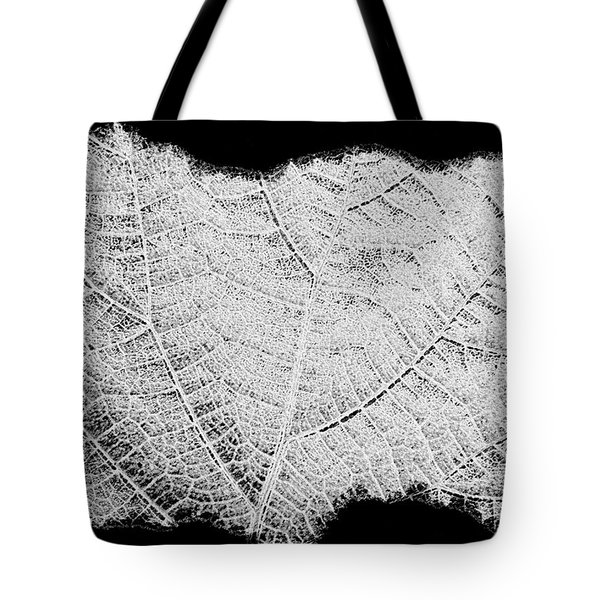 Leaf Design- Black And White Tote Bag by Will Borden