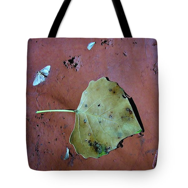 Tote Bag featuring the photograph Leaf Libretto by Britt Runyon