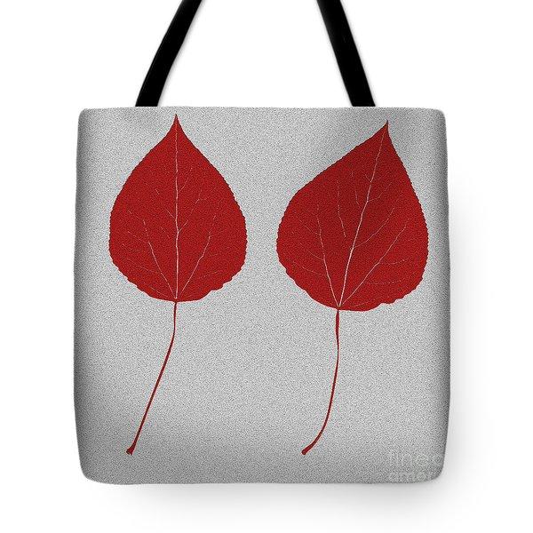 Leafs Rouge Tote Bag