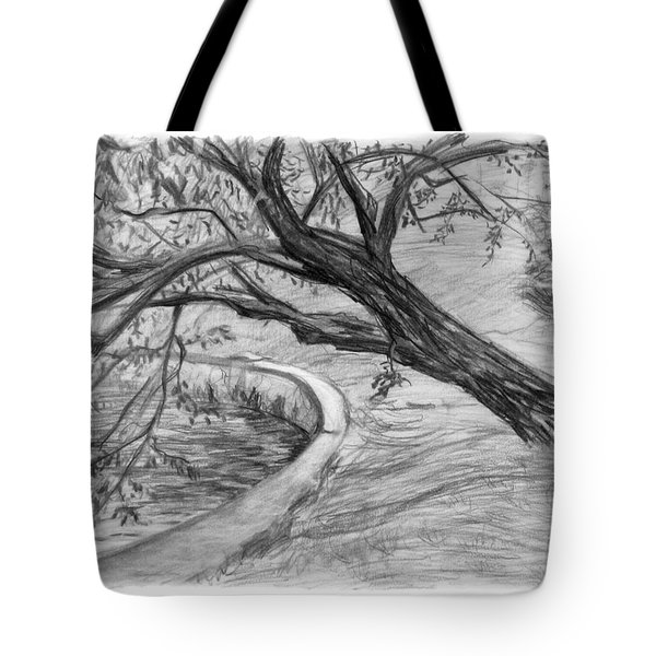 Leaning Tree Tote Bag by Adam Long