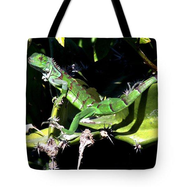 Leapin Lizards Tote Bag by Karen Wiles