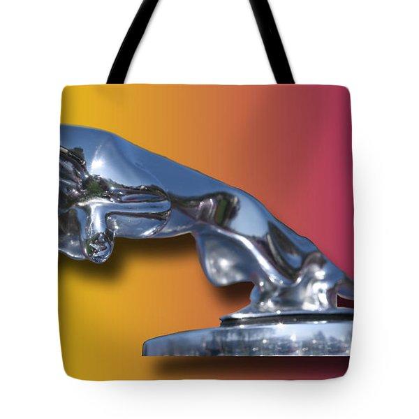 Leaping Jaguar Mascot Tote Bag by Jack Pumphrey
