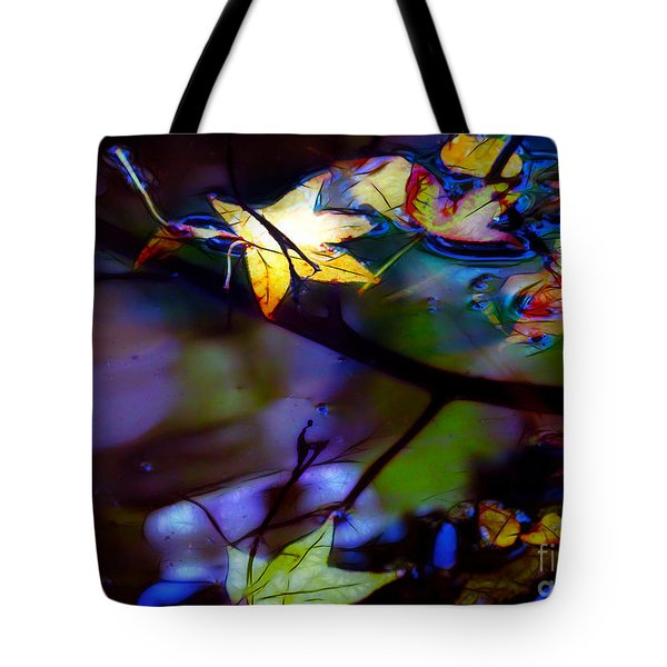 Leaves And Reflections Tote Bag by Judi Bagwell