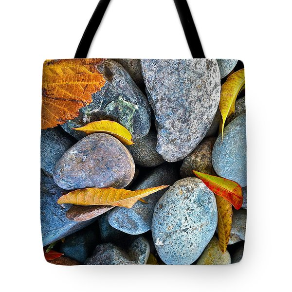 Tote Bag featuring the photograph Leaves And Rocks by Bill Owen