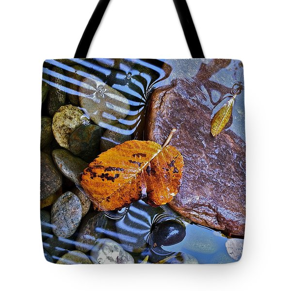 Tote Bag featuring the photograph Leaves Rocks Shadows by Bill Owen