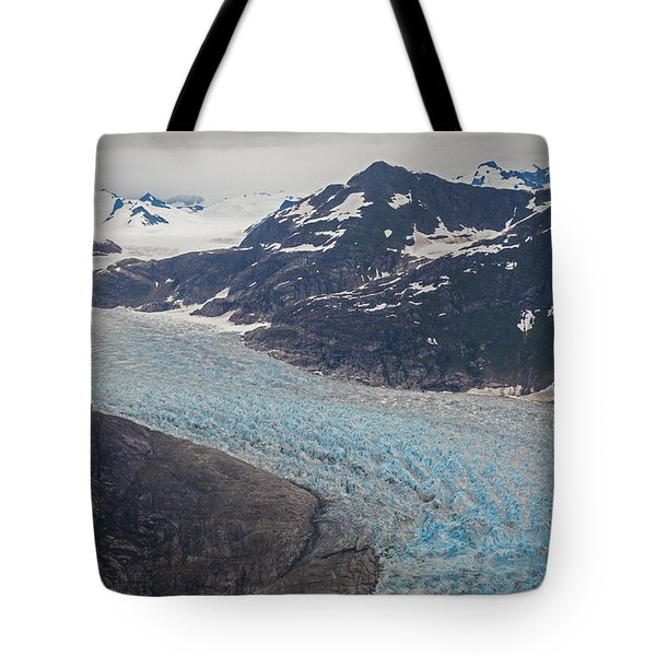 Leconte Glacial Flow Tote Bag by Mike Reid
