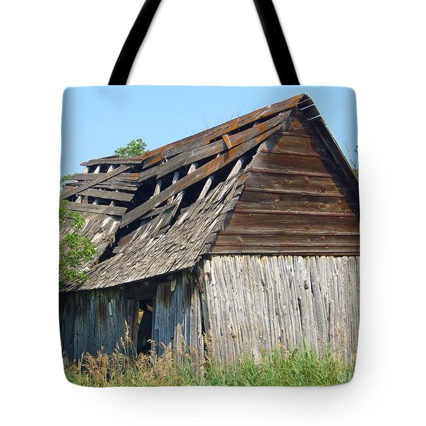 Tote Bag featuring the photograph Left To The Elements by Jim Sauchyn