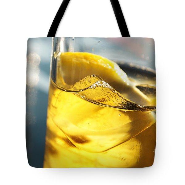 Lemon Drink Tote Bag by Carlos Caetano