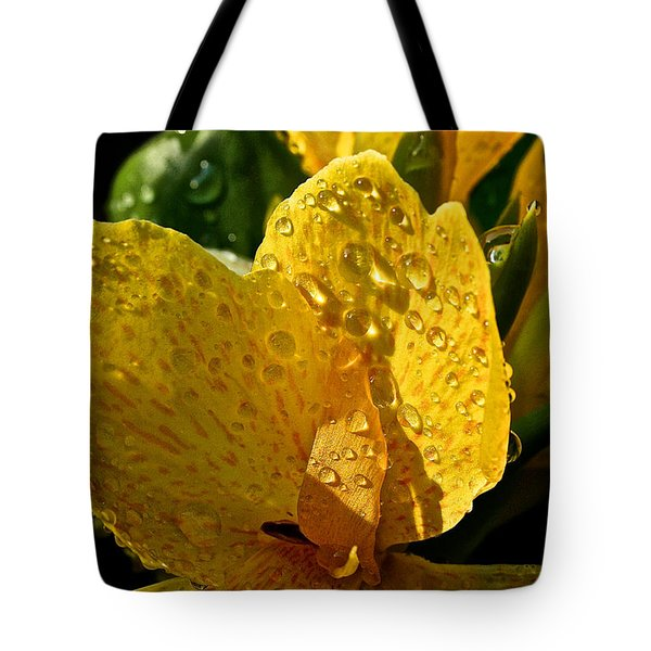 Lemon Drop Canna Lily Tote Bag by Susan Herber