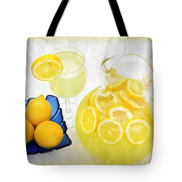 Lemonade And Summertime Tote Bag by Andee Design