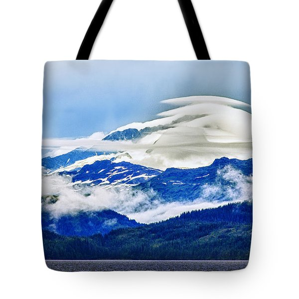 Lenticular And The Chugach Mountains Tote Bag