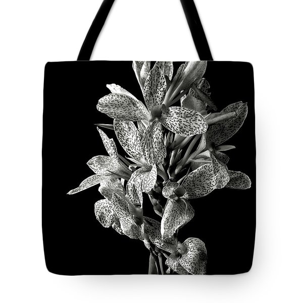 Leopard Lily In Black And White Tote Bag