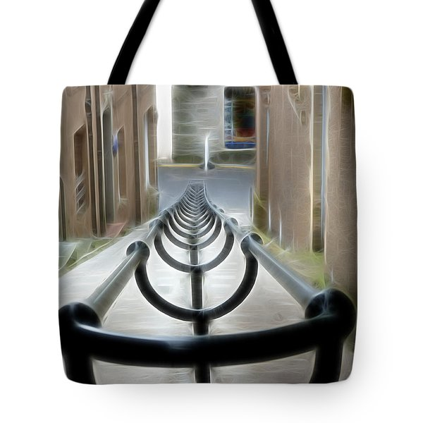 Tote Bag featuring the photograph Lerwick Lanes by Lynn Bolt