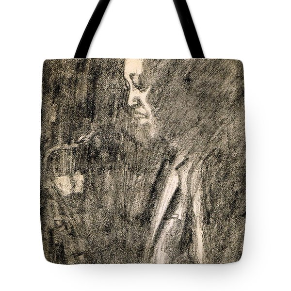 Lester Young Tote Bag by Mel Thompson