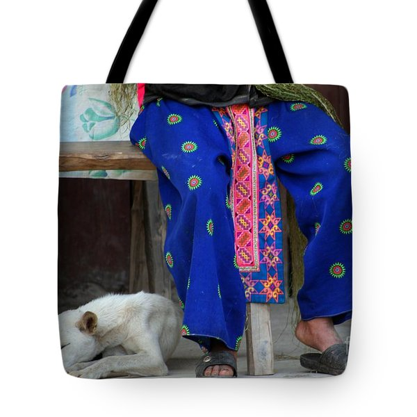 Tote Bag featuring the photograph Let Sleeping Dogs Dream by Nola Lee Kelsey