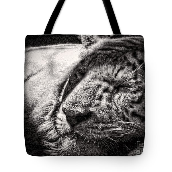 Tote Bag featuring the photograph Let Sleeping Tiger Lie by Traci Cottingham