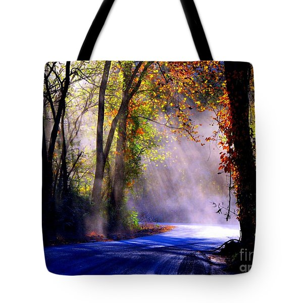 Let Your Light Shine Down On Me Tote Bag by Carolyn Wright