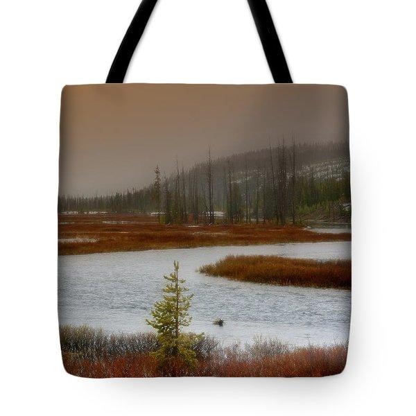 Lewis River - Yellowstone National Park Tote Bag by Ellen Heaverlo