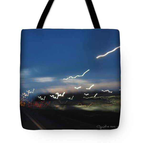 Tote Bag featuring the photograph Lights After Dusk by Maciek Froncisz