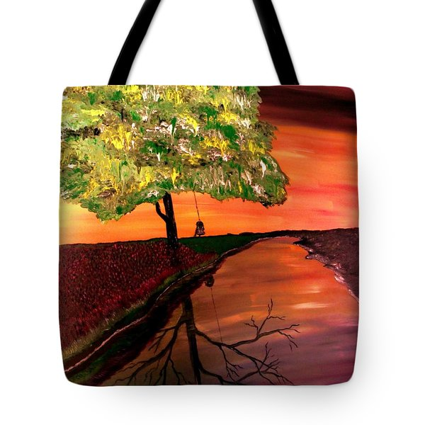 Life And Death Digital Enhanced Tote Bag by Mark Moore