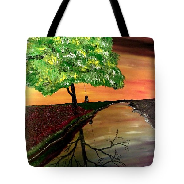 Life And Death Tote Bag by Mark Moore