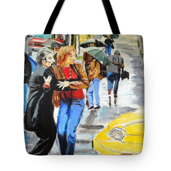 Tote Bag featuring the painting Life In The Big City by Judy Kay