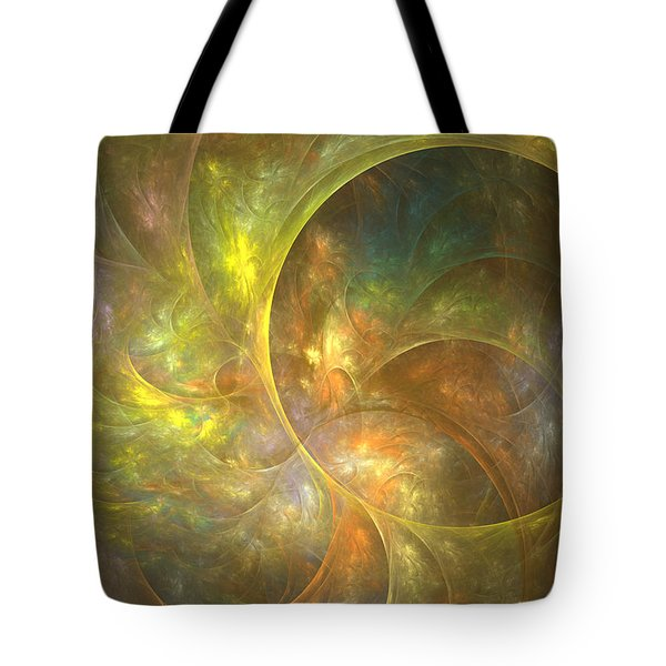 Life Of Leaf - Abstract Art Tote Bag