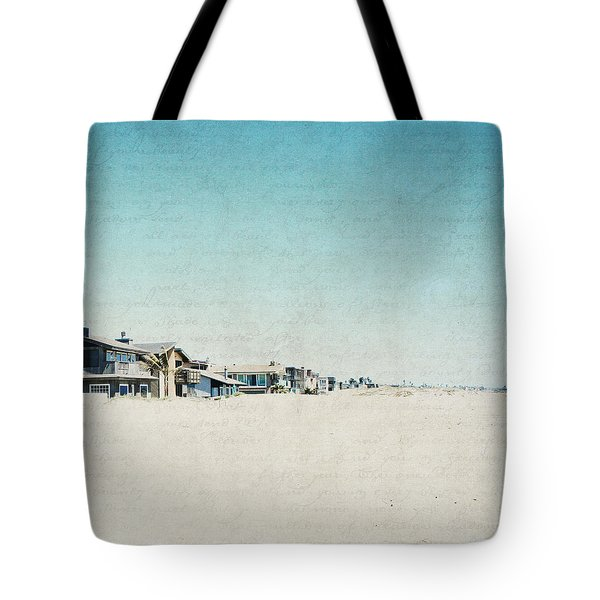Tote Bag featuring the photograph Letters From The Beach House - Square by Lisa Parrish