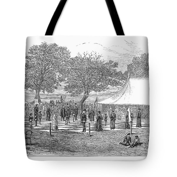 Life-sized Chess, 1882 Tote Bag by Granger