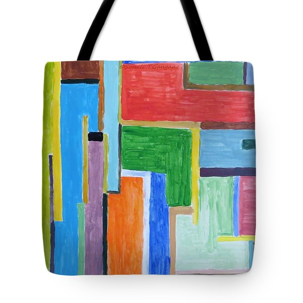 Tote Bag featuring the painting Life by Sonali Gangane