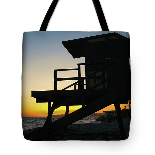 Lifeguard Silhouette Tote Bag by Mariola Bitner
