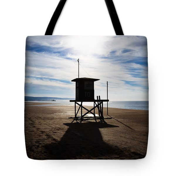 Lifeguard Tower Newport Beach California Tote Bag by Paul Velgos